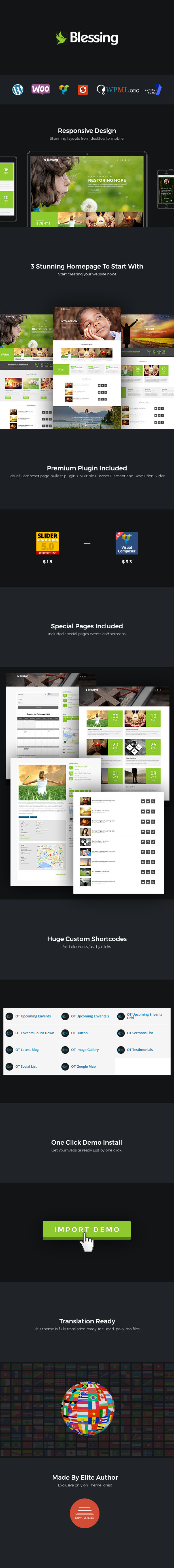 Blessing | Responsive WordPress Theme for Church Websites